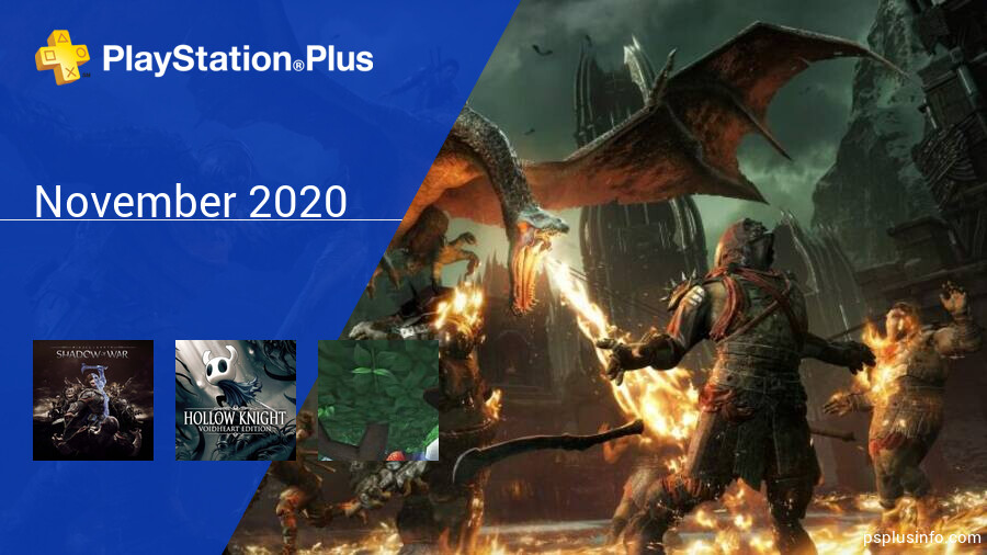 November 2020 - Instant Game Collection in PlayStation Plus